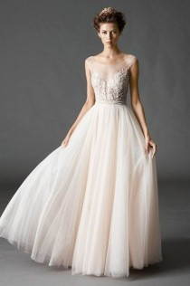 wedding photo - 30 Gorgeous Illusion Necklines Wedding Dresses