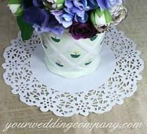 wedding photo - Doily Wedding Decorations