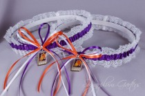 wedding photo - Phoenix Suns Lace Wedding Garter Set