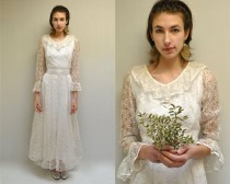 wedding photo - Lace Wedding Dress  //  White Wedding Dress  //  THE RECHERCHE