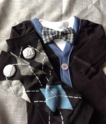 wedding photo - Mason - Baby  Boy Clothes- Newborn - Infant Bow Tie Vest - Photo Prop- Baby Shower Gift- Wedding Outfit- Ring Bearer-Christol and Company