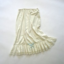 wedding photo - Half Slip 3/4 length White Lace Mid Century Vintage