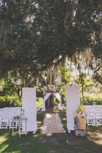 wedding photo - Earthy Rustic Natural Outdoor Florida Wedding with Wheat Bouquets