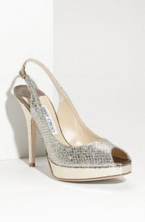 wedding photo - Women's Jimmy Choo 'Clue' Glitter Slingback Pump (Nordstrom Exclusive Color)
