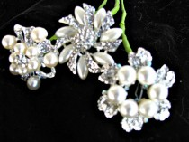 wedding photo - Bridal bouquet brooches wired for  fresh flower bouquets, brooch bouquets, bridal bouquet  diy brooch bouquets,