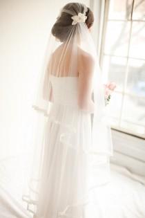 wedding photo - Juliet Cap Bridal Veil, Wedding Veil, Bridal Veil, Lace Veil, 1920's Style Veil, Bridal Cap Veil - Camilla MADE TO ORDER- Style 8313