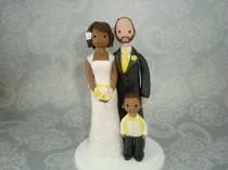 wedding photo - Personalized Family Wedding Cake Topper