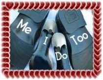 "wedding photo - Wedding Shoe Decals - Choose ""I Do"" or ""Me Too"""
