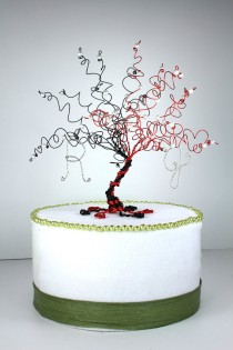 wedding photo - When Two Become One Wedding Cake Topper Tree Custom Wire Sculpture