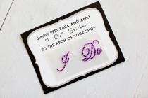 wedding photo - Purple I Do Sticker for Brides Shoes // PURPLE