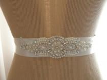 wedding photo - Wedding Belt, Bridal Belt, Bridesmaid Belt, Sash Belt, Wedding Sash, Bridal Sash, Belt, Crystal Rhinestone & Pearl