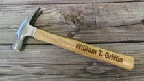 wedding photo - Groomsmen Gift - Engraved Wooden Handled Hammer - Personalized Hammer - Father's Day Gift - Gift for Dad