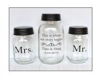wedding photo - Sand Ceremony Mason Jars