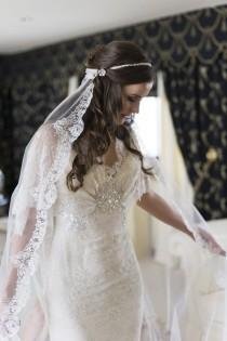 wedding photo - A 'Vintage Look' Elie Saab Wedding Dress For A Channel Islands Bride…