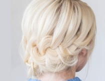 wedding photo - Pretty DIY Tucked Braid Hair Updo For A Bride Or Bridesmaids