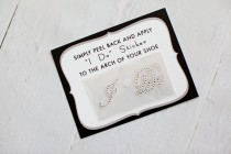 wedding photo - Clear I Do Sticker for Brides Shoes // CRYSTAL