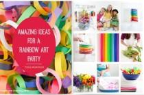 wedding photo - How To Throw A Rainbow Art Party: Ideas With A Creative Twist
