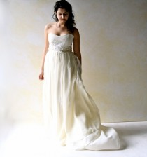 wedding photo - Fairy Wedding Dress, Strapless wedding dress, Wedding Gown, Boho wedding dress, Silk Wedding dress, Alternative wedding dress, custom dress