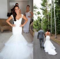 Wedding Dresses New Arrival Real Photo Sweetheart White Bride Gowns Vestidos De Noiva Pleat Chiffon Mermaid Wedding Dresses 2015 Wd201