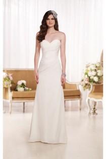 wedding photo - Essense of Australia DESIGNER STRAPLESS WEDDING DRESSES STYLE D1797