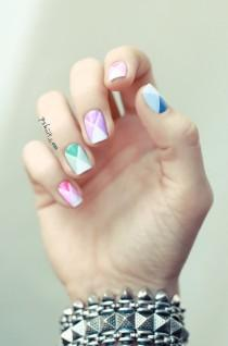 wedding photo - Tuto Nail Art Facile // Nail Art Aux Couleurs De Printemps