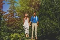 wedding photo - Colourful Chilean and Brazilian Backyard Wedding