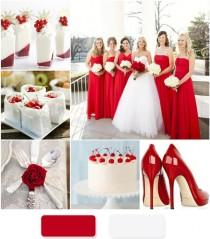 wedding photo - The Red Wedding Color Combination Ideas