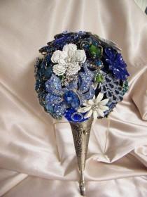 wedding photo - Deposit For A Custom Brooch Bouquet