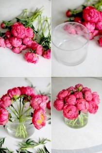 wedding photo - DIY Flower Arrangement: Peonies, 3 Ways
