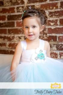 wedding photo - Tiffany Blue, Aqua, Flower Girl Dress, Tutu Dress, Newborn-24m, 2t,2t,4t,5t, 6, birthday