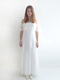 wedding photo - Custom Made lace Wedding Dresses Wedding Gowns Lace Wedding Dresses Bridal Gown: MEREDITH Sheath Strapless Off Shoulder Gown Custom Size