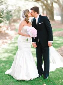 wedding photo - Charming Southern Lakeside Wedding - Belle The Magazine