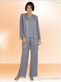 wedding photo -  2014 New Arrival High Quality A Line Modern Formal Dress Long Sleeves Mother of the Bride Pant Suits Mother Dresses Custom Made DH0122 Online with $103.04/Piece on