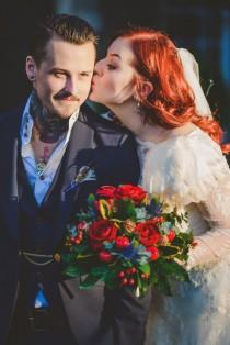 wedding photo - Rustic, Wintery and Super Freaking Cool Wedding