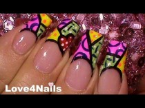 wedding photo - Free Style Nail Art Britto Inspired