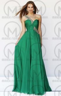 wedding photo -  Elegant one shoulder green formal dresses,cheap green dress australia