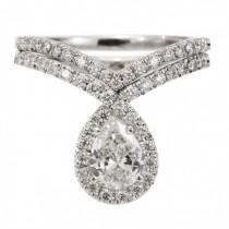 "wedding photo - Pear Shaped Engagement Ring Set- ""Bliss"""
