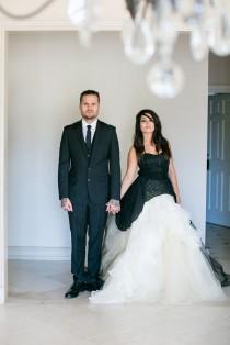 wedding photo - Maleficent-Inspired Monochrome and Rustic Wedding