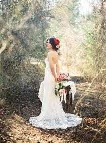 wedding photo - Romantic Bridal Inspiration: Big, Bold Blooms   Gowns By Watters