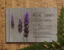 wedding photo - Rustic Lavender Bridal Invitations, Bridal Shower Invitations, Wedding Shower Party Invites, Printable, Digital PDF, DIY Template, Printed