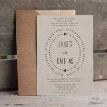 wedding photo - Kraft Wedding Invitation, rustic wedding invitation, arrows, eco friendly wedding invitation, typography wedding invitation set - The Arrow