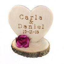 wedding photo - Custom Rustic Wedding Cake Topper - 1043181