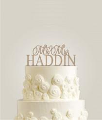 wedding photo - Rustic Wedding Cake Topper - Mr and Mrs Topper, Custom Cake Topper, Custom Wedding Cake Topper