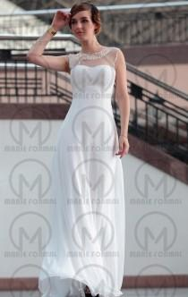 wedding photo -  A-line A-line white formal dress for girls