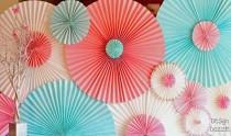 wedding photo - How To Make A Party Backdrop With Paper Window Shades