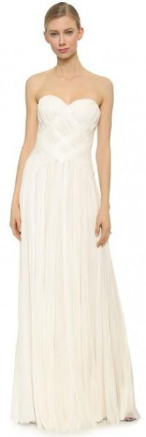 wedding photo - J. Mendel Strapless Woven Gown
