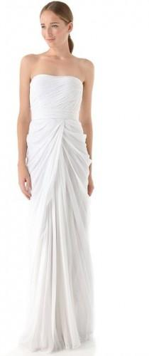 wedding photo - J. Mendel Strapless Draped Gown