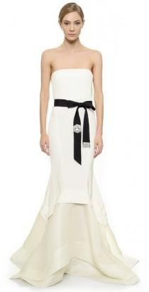 wedding photo - Donna Karan New York Embellished Strapless Gown