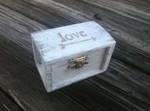 wedding photo - Rustic wedding ring box, nautical beach side wedding, ring pillow alternative, country wedding