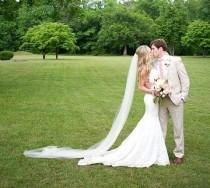 wedding photo - Sheer Soft  Wedding Veil